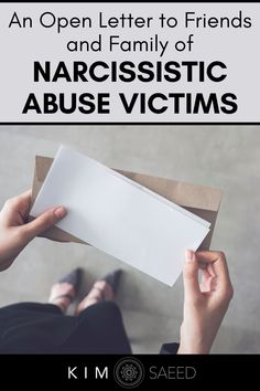 In a relationship with a narcissist? Do your friends and family know what you're going through with narcissistic abuse recovery? This message can help your loved ones understand what it's like to deal with narcissism.