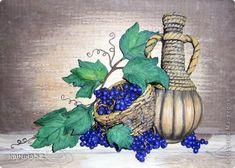 Добрый день! Сегодня  я представляю пару работ на виноградную тему.  Виноград - одно из самых древних используемых человеком растений. На Ближнем Востоке он культивировался еще 9 тыс. лет назад, а семена его, обнаруженные при раскопках, относятся к бронзовому веку.  фото 6