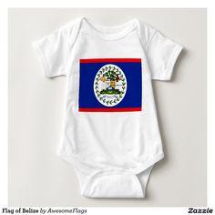 Flag of Belize Baby Bodysuit