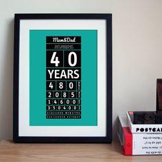 personalised anniversary time print by hannah lloyd | notonthehighstreet.com