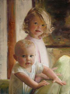Oil portrait by Jonathan Linton
