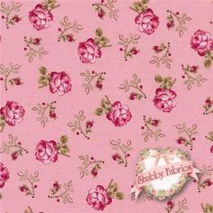 """Rosemont Gazebo 02282-01 Roxanna Petal By E. Vive For Benartex: Rosemont Gazebo is a collection by E. Vive for Benartex. 100% cotton. 43/44"""" wide. This fabric features small pink roses tossed on a pink background."""