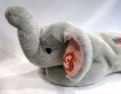 c5eb93865bd Ty Beanie Buddy Buddies Righty Elephant Republican Animal Plush 20  Patriotic American flag Beanie Buddies