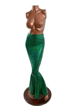 High Waist GREEN Shimmering Hologram Scale by CoquetryClothing, $75.00