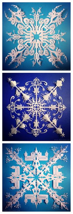 These Frozen-Inspired Snowflakes Will Amaze You Paper Snowflakes, Frozen, Creations, Parties, Amazing, Disney, Artwork, Beautiful, Snow Queen