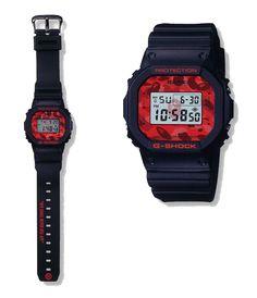 Bape x G-Shock DW-5600 Color Camo