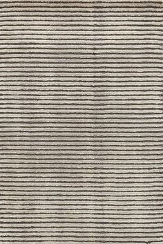 Dash & Albert | Cut Stripe Grey Hand Knotted Rug | May we cut in? Your floors are begging for this plush, hand-loomed rug in five sophisticated neutrals.