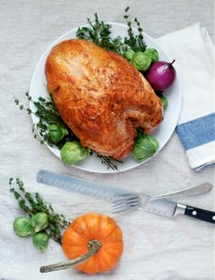 A roast turkey breast is a great option for smaller Thanksgiving gatherings.