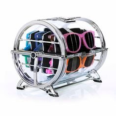 Luneti #Sunglass #Holder silver, #storage, #organization & #cleaning