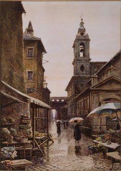 Acquarello di Ettore Roesler Franz