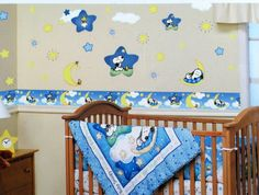Comfortable Snoopy Baby Room Decoration in Blue: Fascinating Snoopy Baby Room Decorations Ideas Snoopy Wall Decal ~ oulugen.com Bedroom Designs Inspiration