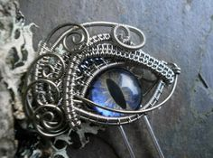 Gothic Steampunk Hair Pin Fork Stick with by twistedsisterarts, $24.95