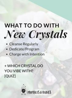 """Click through to read the whole post and take the quiz. Woohoo!  Congratulations! You just found a beautiful, new crystals and you love it! Now you're wondering, """"What next?"""" Clear. Dedicate and/or Program. Charge. Then, enjoy! This post will help you get the most from working with crystals.     #ontheblognow #crystallovers #crystalhead#crystallover #crystalpower#crystalstones #crystalmeanings"""