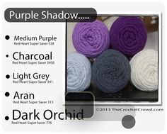 Red Heart Super Saver Color Mix: Purple Shadow