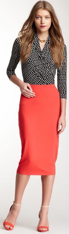 Vince CamutoMidi Tube Skirt ♥✤   Keep the Glamour   BeStayBeautiful