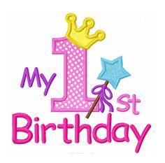 Instant Download My  st Birthday Applique
