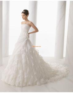 Robes de mariées avec boléros Organza Naturel Robes de mariée 2015