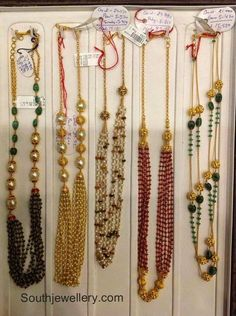 Emerald Pearl and Ruby Beads Necklace Designs - Indian Jewellery Designs Beaded Jewelry Designs, Gold Jewellery Design, Bead Jewellery, Jewelry Patterns, Necklace Designs, Temple Jewellery, Pearl Jewelry, Fine Jewelry, Ruby Beads