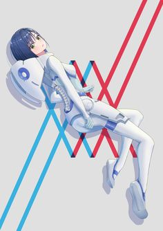 Darling in the Franxx Beautiful Love Stories, Beautiful Anime Girl, Slice Of Life, Querida No Franxx, Shoujo Ai, Blue Haired Girl, Blue Anime, Zero Two, Manga Anime
