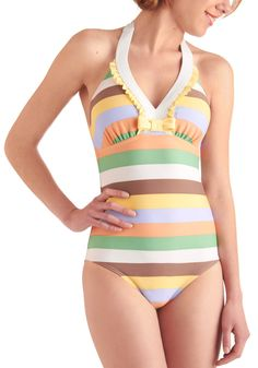Bring Your Pool Pastel One Piece