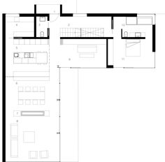 Image 2 of 30 from gallery of JGC House / MDBA. Detail Architecture, Architecture Plan, Small House Floor Plans, Best House Plans, L Shaped House, Vintage House Plans, Arch Interior, Courtyard House, Cabin Design