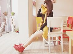 cute color contrast yellow and brown