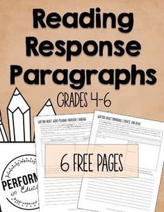 Teach your students how to write AWESOME Reading Response Paragraphs using this free resource! Each student organizer is…