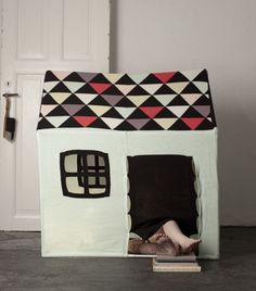 fun indoor playhouse! Wonder how long my kids will play in there and not bother me lol
