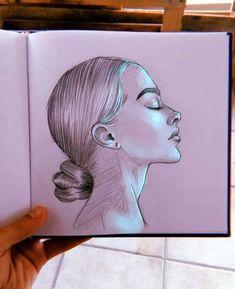 Unique Drawings, Dark Art Drawings, Art Drawings Sketches Simple, Pencil Art Drawings, Easy Realistic Drawings, Easy Portrait Drawing, Arte Do Hip Hop, Art Painting Gallery, Arte Sketchbook