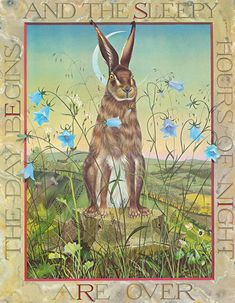 Hare by Kit Williams from his exquisite book, Masquerade