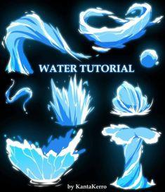 Digital Painting Tutorials, Digital Art Tutorial, Art Tutorials, Magic Drawing, Water Drawing, Drawing Drawing, Drawing Ideas, Sakimichan Tutorial, Magic Tutorial