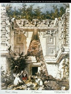 Palace of the Governors, Uxmal, Yucatan, Mexico, 1844 - Frederick Catherwood