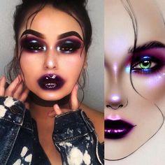#artistmilk1422 #artist @capricorrn ✨The makeup is stunning! It's fantastic ✨💜🖤💜✨thank you so much 🌟 @capricorrn ✨🌟✨mesmerizing !… Makeup Is Life, Makeup Goals, Makeup Inspo, Beauty Makeup, Makeup Ideas, Beauty Tips, Dark Makeup, Hazel Eye Makeup, Natural Makeup