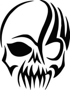For your consideration is a die-cut vinyl Skull decal available in multiple sizes and colors. Vinyl decals will stick to any smooth clean surface including glas Tribal Tattoos, Skull Tattoos, Skull Stencil, Tattoo Stencils, Punisher Skull, Stylo Art, Creepy Hand, Tribal Art, Tattoo Drawings