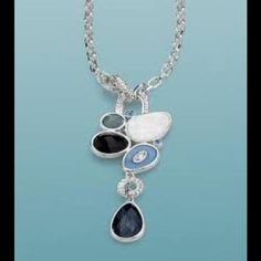 """Azure 16-19"""" Necklace ❤️❤️❤️ Genuine mother of pearl and cut crystals with resin. Used as display so in excellent condition. Bundle with the Azure earrings and Riviera ring (already an option) and you will save over 30% Lia Sophia Jewelry Necklaces"""