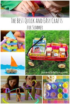 The Best Quick and Easy Crafts for Summer -- love all of these ideas! Great for packing in some fun for the last few days of Summer!