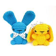 Ravelry: Tiny bunny - Amigurumi miniature - Small crocheted rabbit - Stuffed animal - Small crochet toy pattern by Kristi Tullus