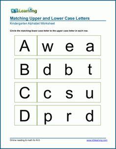 Letter D Worksheet, Free Kindergarten Worksheets, Tracing Worksheets, Alphabet Worksheets, Worksheets For Kids, Matching Worksheets, Letters Kindergarten, Preschool Alphabet, Alphabet Activities