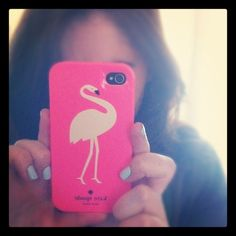 love my flamingo iphone case from kate spade