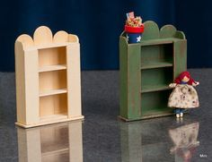 """Miniature Unfinished Wood Cupboard Furniture for Dollhouse Scale 1 12 . 3"""" t X 2 1/4"""" w. X - 3/4"""" d.. from instructions in an old Nutshell New magazine Looks like tongue depressers to me."""