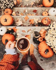 Pumpkins in many cases are beautiful circular, brilliant lemon, and in autumn they must not be missing particularly on Halloween. Street Design, Fall Inspiration, Autumn Cozy, Autumn Fall, Autumn Feeling, Autumn Coffee, Autumn Aesthetic, Cozy Aesthetic, Aesthetic Clothes