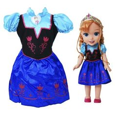 Disney Frozen Anna Toddler Doll & Dress Combo $34.99