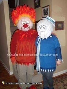 Coolest+Homemade+Heat+Miser+and+Snow+Miser+Halloween+Couple+Costume+Idea
