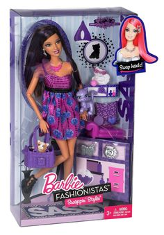 AmazonSmile: Barbie Fashionistas Swappin' Styles Sassy Doll and Pet: Toys & Games