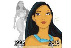 Cómo se verían las princesas de Disney con su verdadera edad - Periódico AM