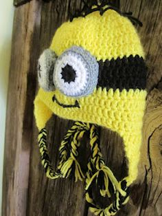 Minion and Tangled Crocheted Hats