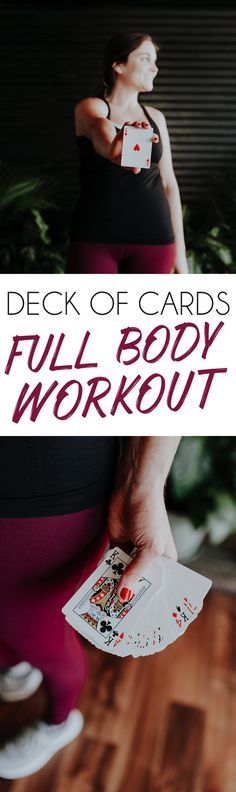 Turn your workout into a game with this full body Deck of Cards Workout