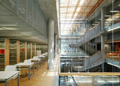 """""""Katowice [Poland] Scientific Information Centre and Academic Library by HS99"""" -- Click through for a whole photo spread and commentary on this light-filled library."""