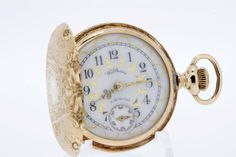 14K Gold Waltham Ladies Pocket Watch by timekeepersinclayton