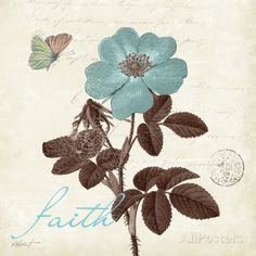 Touch of Blue II, Faith Posters por Katie Pertiet na AllPosters.com.br